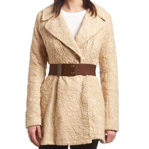 NWOT~ Ryu Beige & Brown Belted Jacket